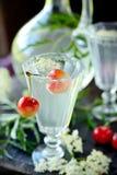 Elderflower drink Stock Photo
