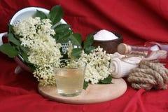 elderflower juice in a glass Royalty Free Stock Photos