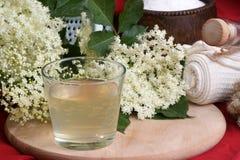 Elderflower juice in a glass Royalty Free Stock Photo