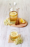 Elderflower juice with lemon Royalty Free Stock Photo