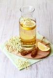Elderflower juice with lemon Stock Photos