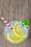 Elderflower juice with lemon Royalty Free Stock Image
