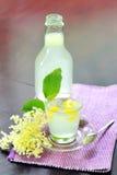 Elderflower Juice With Lemon Stock Photo
