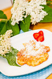 Elderflower Pancakes Stock Photography