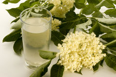 elderflower-sirop dans une glace photo libre de droits