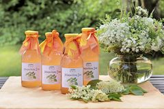Elderflower syrup Royalty Free Stock Photos