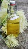 Elderflower syrup. (sambucus nigra) - natural medicine Royalty Free Stock Photos