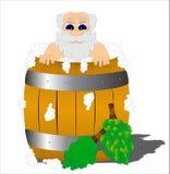 Elderling  in the barrel Stock Images