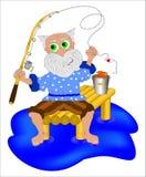 Elderling fishing Stock Images