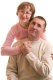 Elderly Affectionate couple Stock Image