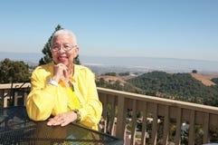 Elderly African American Black Woman royalty free stock photos