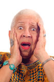 Elderly African American woman royalty free stock image