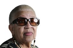 Elderly African American Woman royalty free stock photography