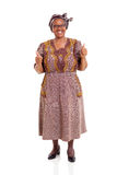 Elderly african woman thumbs up Royalty Free Stock Photo