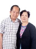 Elderly Asian Couple stock images