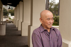 Elderly asian man Royalty Free Stock Images