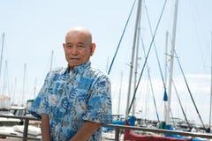 Elderly asian man Royalty Free Stock Image