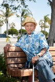 Elderly asian man Stock Images