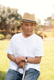 Elderly asian man Stock Photography