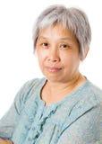 Elderly asian woman stock photos