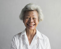 Free Elderly Asian Woman Smiling Face Expression Portrait Stock Images - 99197524