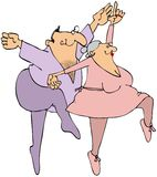 Elderly Ballet Dancers Royalty Free Stock Images
