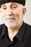 Elderly bearded man in fleece hat Royalty Free Stock Photography