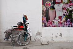 Elderly Beggar Royalty Free Stock Photography