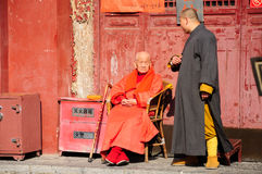 Elderly Buddhist Monk Royalty Free Stock Photography