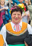 An elderly Bulgarian in national dress at the Nestinar Games Royalty Free Stock Image