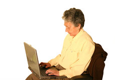 Elderly business woman Royalty Free Stock Image