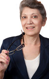 Elderly business woman Royalty Free Stock Images