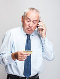 Elderly businessman Royalty Free Stock Photo