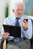 Elderly businessman Royalty Free Stock Photography
