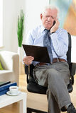 Elderly businessman Stock Image