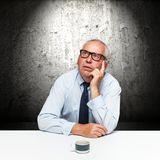 Elderly businessman Royalty Free Stock Images