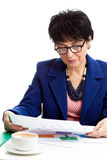 Elderly businesswoman Stock Photo