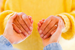 Elderly care. Find the right home care services for your loved Stock Image
