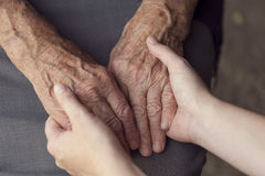 Elderly care royalty free stock photos