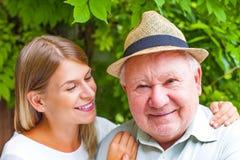 Elderly care outdoor Stock Photo
