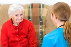 Elderly care Royalty Free Stock Photo