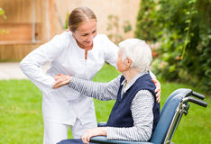 Elderly care Stock Photography