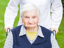 Elderly care Stock Photo
