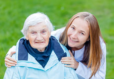 Elderly care Stock Image