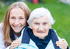 Elderly care Royalty Free Stock Photo