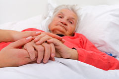 Elderly care Stock Images