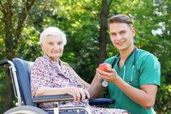 Elderly care Stock Image