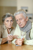 Elderly caucasian couple Royalty Free Stock Image