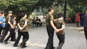 Chinese couples plaza dancing in beijing