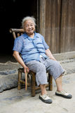 Elderly Chinese Lady at Daxu Royalty Free Stock Photography